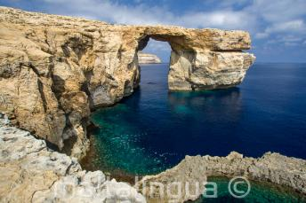 Widok na Azure Window na Gozo