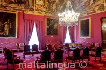 Wnętrz w pałacu w Vallettcie