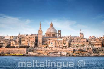Widok na Vallette z Portu w Sliemie