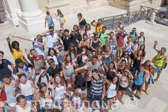 Grupa uczniów w Vallettcie