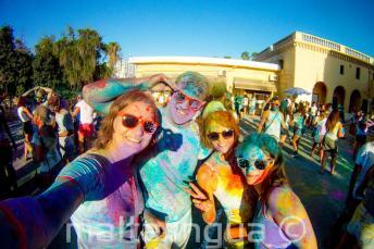 Holi color party w St Julian's
