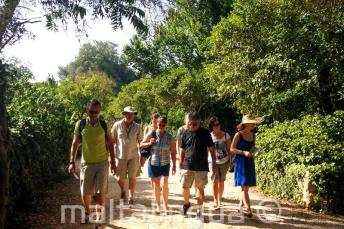 Wycieczka ze szkoły jezykowej podziwia krajobraz na Malcie