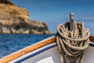 Dziób tradycyjnej, maltańskiej łodzi.