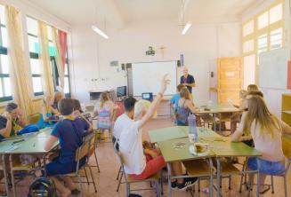 Klasa w szkole letniej
